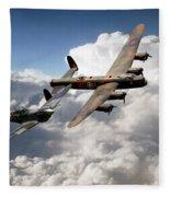 Lancaster And Spitfire  Fleece Blanket