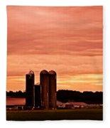 Lancaster Pa Sunset Fleece Blanket