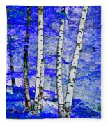 Land Of The Silver Birch Fleece Blanket
