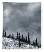 Land Shapes 1 Fleece Blanket by Priska Wettstein