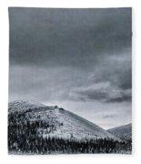 Land Shapes 10 Fleece Blanket by Priska Wettstein