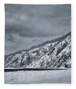 Land Shapes 13 Fleece Blanket by Priska Wettstein