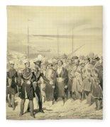 Landing Of A Military Leader Fleece Blanket