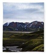 Landmannalaugar Iceland Fleece Blanket