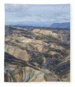 Landmannalaugar Iceland Panorama 2 Fleece Blanket