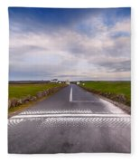 Lands End Start And Finish Line Fleece Blanket