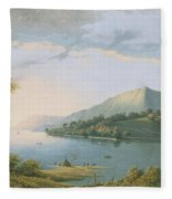 Landscape Along The Rhine Fleece Blanket