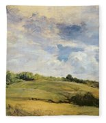 Landscape And Clouds  Fleece Blanket