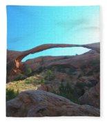 Landscape Arch 2 Fleece Blanket