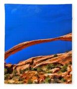 Landscape Arch Fleece Blanket