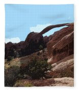 Landscape Arch In Arches National Park Fleece Blanket