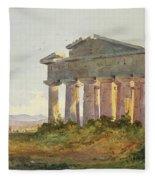 Landscape At Paestum Fleece Blanket