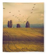Landscape In France Fleece Blanket