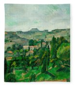 Landscape In The Ile-de-france Fleece Blanket