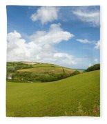 Landscape Near Hallsands In Devon Gb Fleece Blanket