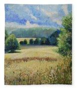 Landscape Near Russian Border Fleece Blanket