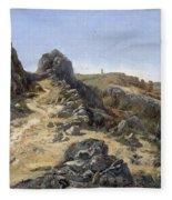 Landscape Near The Monastery Piedra Fleece Blanket