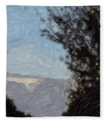 Landscape Of Fall Fleece Blanket