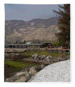 Landscape Outside The Entrance To The Eilean Doonan Castle In Sc Fleece Blanket