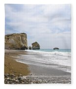 Seascape  Paphos Cyprus Fleece Blanket