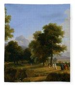 Landscape. Site Of Greece Fleece Blanket