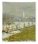 Landscape. Winter Sun Fleece Blanket