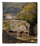 Landscape With A Barn, Shoreham, Kent Fleece Blanket