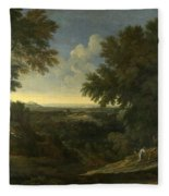 Landscape With Abraham And Isaac Fleece Blanket