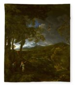 Landscape With Elijah And The Angel Fleece Blanket