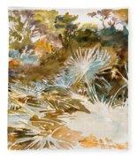 Landscape With Palmettos Fleece Blanket