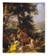 Landscape With The Ministry Of John The Baptist Fleece Blanket