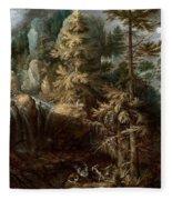 Landscape With The Temptation Of Saint Anthony Fleece Blanket