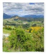 Landscape With Winding Road Fleece Blanket
