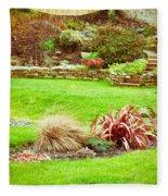 Landscaped Garden Fleece Blanket