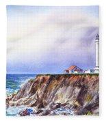 Lighthouse Point Arena California  Fleece Blanket