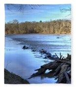 Landsford Canal-1 Fleece Blanket