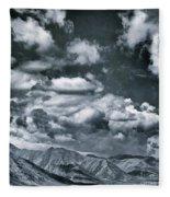 Land Shapes 28 Fleece Blanket by Priska Wettstein