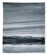 Land Shapes 27 Fleece Blanket by Priska Wettstein