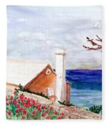 Lane In Old Bermuda Fleece Blanket
