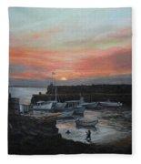 Lanes Cove Sunset Fleece Blanket
