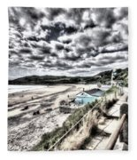 Langland Bay Painterly Fleece Blanket