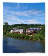 Langsur Germany From Luxemburg Fleece Blanket