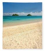 Lanikai Beach 2 - Oahu Hawaii Fleece Blanket