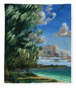 Lanikai Beach Fleece Blanket