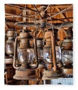 Lantern Chandelier Fleece Blanket