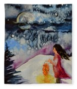 Lantern Festival Fleece Blanket