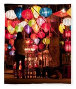 Lantern Stall 01 Fleece Blanket