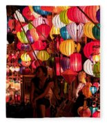 Lantern Stall 02 Fleece Blanket