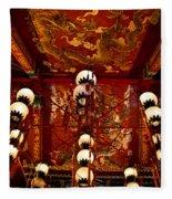 Lanterns And Dragons Fleece Blanket