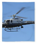Lapd In Flight Fleece Blanket